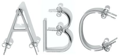 Alphabet Earring Silver - © D'heygere