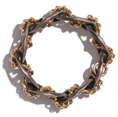 Braided Ring Gold - © D'heygere