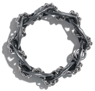 Braided Ring Silver - © D'heygere