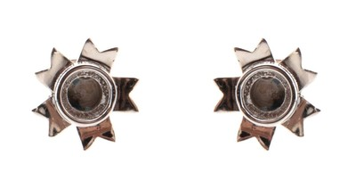 Candle Holder Earrings Silver - © D'heygere