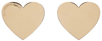 Heart Earrings Gold - © D'heygere