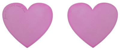 Heart Earrings Pink - © D'heygere