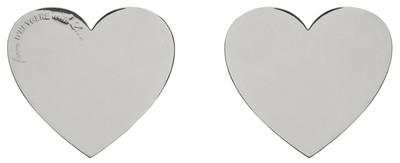 Heart Earrings Silver - © D'heygere