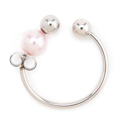 Pearl Earring Ear Cuff Pink - © D'heygere