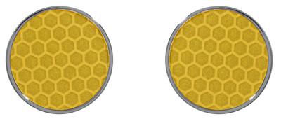 Reflector Earrings Orange - © D'heygere