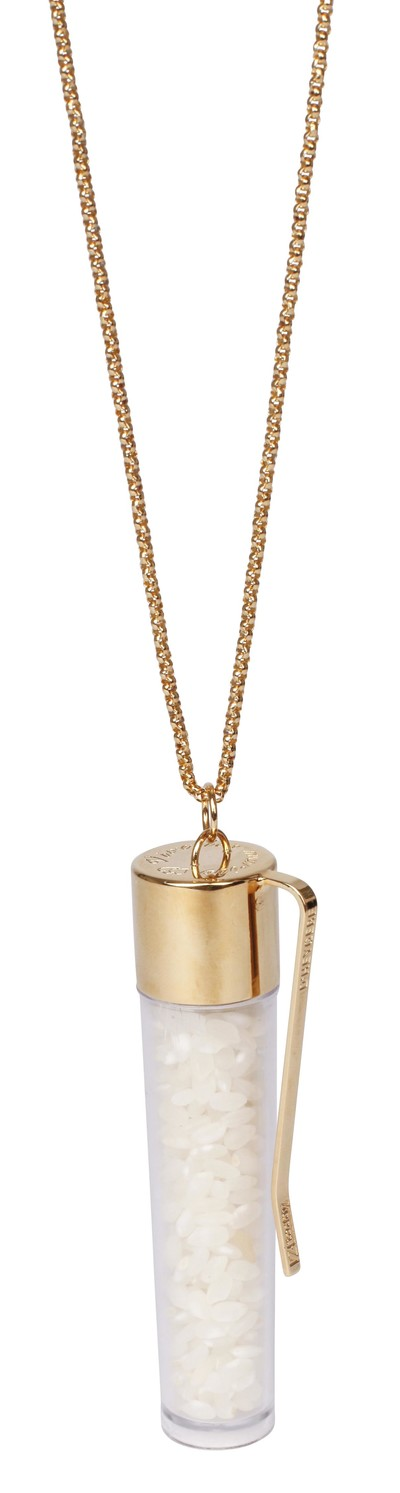 Rice Necklace Gold - © D'heygere