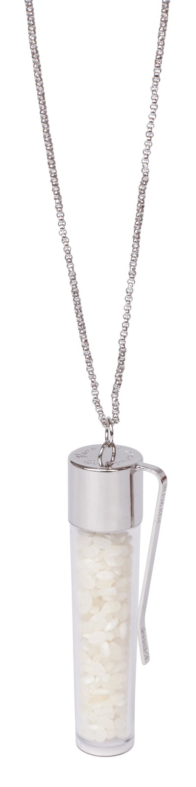 Rice Necklace Silver - © D'heygere