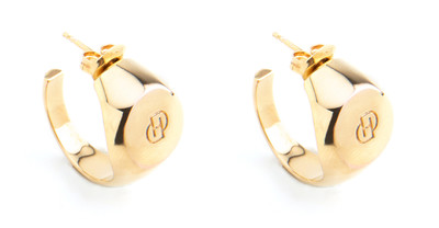 Signet Hoops XL Gold - © D'heygere