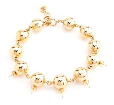 Stud Necklace Gold - © D'heygere