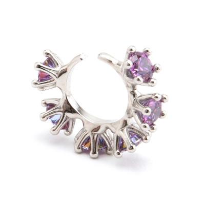 Wheel Ear Cuff Purple - © D'heygere