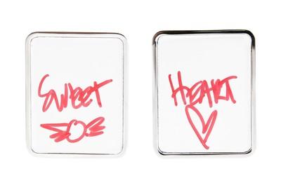 White Board Earrings Silver - © D'heygere