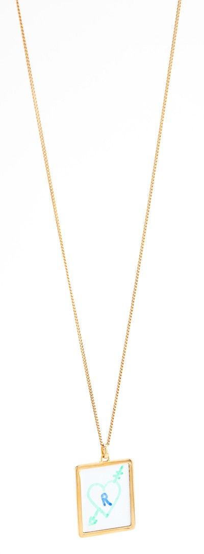 White Board Necklace Gold - © D'heygere